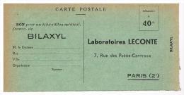 Carte Postale  -   Bon Pour Echantillon Médical   -   Laboratoires LECONTE   BILAXYL  (Paris 2e) - Cartes Postales