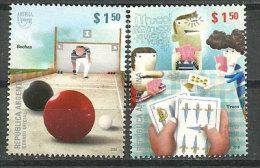 Jeux Traditionnels Argentins .jeux De Boules,cartes. 2 T-p Neufs ** Année 2010 Yv. 2873/74. UPAEP 2010 - Spiele