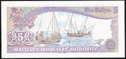 MALDIVES  P10   5  RUFFIYA  1983    UNC. - Maldives