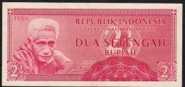 INDONESIA   P75   2 1/2     RUPIAH    1956     XF - Indonésie
