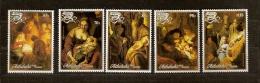 Aitutaki 1988 Yvertn° 476-480 *** MNH Cote 13,50 Euro Noel Kerstmis Christmas Rembrandt - Aitutaki