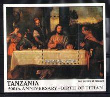 Tanzania - 1990 Titian Block (1) MNH__(TH-6421) - Tanzania (1964-...)