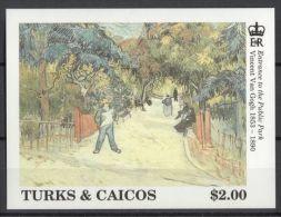 Turks And Caicos - 1991 Vincent Van Gogh Block (2) MNH__(TH-13072) - Turks- En Caicoseilanden