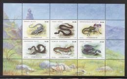 Uzbekistan - 1999 Reptiles Kleinbogen MNH__(THB-3051) - Uzbekistan