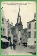44 GUERANDE - La Rue Du Pilori Et Le Clocher De L'église St-Aubin - Guérande