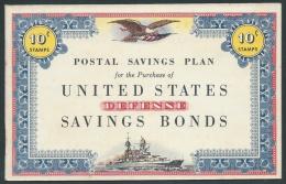 United States, Postal Savings Stamps Booklet For U.S. Defense Bonds, Unused - Other
