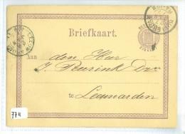 HANDGESCHREVEN BRIEFKAART Uit 1877 Van ROTTERDAM Naar LEEUWARDEN * VOORDRUK NVPH Nr. 18 (7711) - Postal Stationery