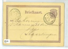 HANDGESCHREVEN BRIEFKAART Uit 1877 Van ROTTERDAM Naar VLAARDINGEN * VOORDRUK NVPH Nr. 18 (7714) - Postal Stationery