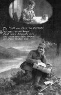 Feldpost 1917, Gruß Von Herzen Zu Herzen!! - Guerre 1914-18