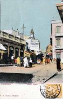 Marokko TANGIER, Main Street, Karte Frankiert, Stempel 1908, Verlag V.B.Cumbo Gibraltar - Tanger