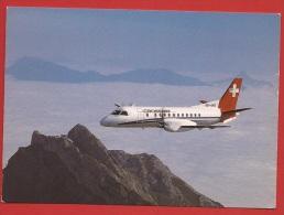 Z0486 Crossair Saab Cityliner Over The Swiss Alps. Non Circulé. - 1946-....: Moderne