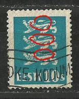 Estland Estonia 1928 Michel 79 Abart ERROR Variety = Damaged Tails O - Estland