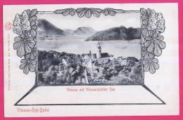 616 - SUISSE -  VITZNAU  Mit  Vierwaldstätter SEE    Dos Non Divisé - LU Luzern