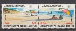 BANGLADESH, 1980, World Tourism Conference, Setenant Pair, Sea Beach, Umbrella,  MNH, (**) - Bangladesh