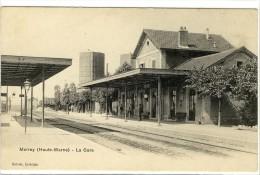 Carte Postale Ancienne Merrey - La Gare - Chemin De Fer - Autres Communes