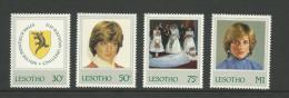 1982 Lady Di 21st Birthday Set Of 4  Complete MUH Unused - Lesotho (1966-...)
