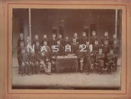 Photographie - Classe De Lycéens En 1900 - Professeurs En Chapeau Melon - - Photos