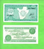 BURUNDI - 2005/10 Francs/Unite Travail Progress UNC - Burundi