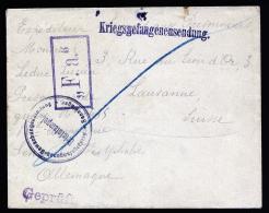 A2143) DR POW Kriegsgefangenen-Brief Von Bewachungsabteilung Sennelager 27.5.1915 !! - Deutschland