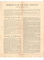 Vittefleur (76) Obsèques De Amynthe Lefebvre Discours De M.Leredu Maire - Documents Historiques