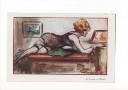 PAUL HAGEMANS ( La Femme Au Miroir ) - Künstlerkarten