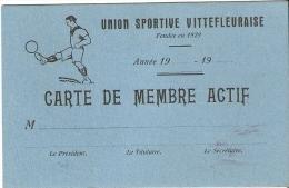 Vittefleur (76) Carte De Membre Actif De L Union Sportive Vittefleuraise (vierge) - Football