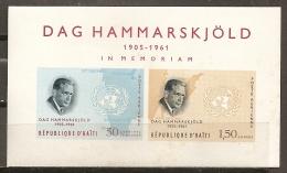 CELEBRIDADES - HAITI 1963 - Yvert #H21 - MNH ** - Dag Hammarskjöld