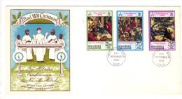 Premier Jour D´ Emission, FDC: Nouvelles Hebrides, Vila, Christmas, Noel, 1976, 08-11-76 (13-2977) - FDC