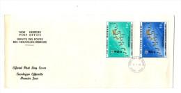 Premier Jour D´ Emission, FDC: Nouvelles Hebrides, Port Vila, First Anniversary Internal Self-Government, 11-01-79 - FDC