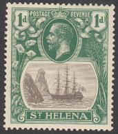 St Helena  1922  K.George V  1d  SG98  MH - Saint Helena Island