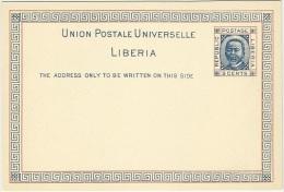 Liberia 1891 Postal Stationery Correspondence Card - Liberia