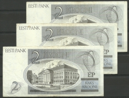 Estland Estonia 3 X 2 Krooni 1992 Banknote Karl Ernst Von Baer Universität Dorpat Tartu - Estland