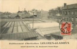 02 ST / SAINT QUENTIN - ETABLISSEMENT D HORTICULTURE LOLLIEUX - GLADIEUX 22 BOULEVARD VICTOR HUGO - Saint Quentin