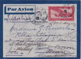 INDOCHINE ENTIER à 36c Obl HANOÏ TONKIN RETOURNÉ à HanoÏ ! / Vietnam - Indochine (1889-1945)