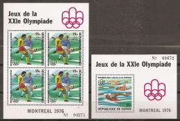 JUEGOS OLÍMPICOS - GUINEA 1976 - Yvert #H32/33 - MNH ** - Verano 1976: Montréal
