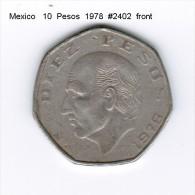 MEXICO    10  PESOS  1978  (KM # 477.2) - Mexico