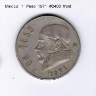 MEXICO    1  PESO  1971  (KM # 460) - Mexico