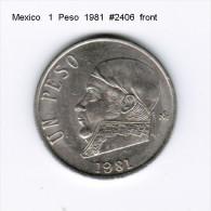 MEXICO    1  PESO  1981  (KM # 460) - Mexico