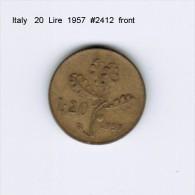 ITALY    20  LIRE  1957 (KM # 97.1) - 20 Lire