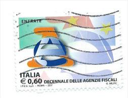 Italia 2011 ; Le Istituzioni : Agenzia Delle Entrate ; Parte Di Un Foglietto ; Usato - 6. 1946-.. Repubblica