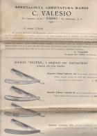 C1106 - LISTINO ILLUSTRATO C.Valesio Anni '30 PRODOTTI BARBIERI - RASOI ELITAS , SOMMER SOLINGEN -FORBICI - TOSACAPELLI - Catalogues