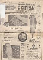 C1107 - LISTINO ILLUSTRATO Z.Cappelli 1931 PRODOTTI BARBIERI - TOSATRICI ELETTRICHE - FON - STRUMENTI PROFESSIONALI - Catalogues