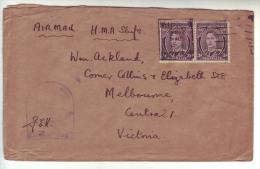 Australia 19?? Air Mail Cover HMA H.M.A Ships - Briefe U. Dokumente