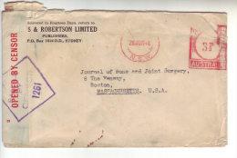 Australia 1944 Cover Opened By Censor To USA - Briefe U. Dokumente