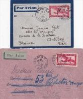 INDOCHINE ENTIER + LETTRE à 36c Obl HANOÏ TONKIN Par AVION Pour La France - Briefe U. Dokumente