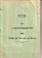 NOTICE SUR L�AEROTRANSPORT DES UNITES DE L�ARMEE DE TERRE.