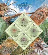 slm13404a Solomon Is. 2013 Australian Fauna Huntsman Spiders s/s