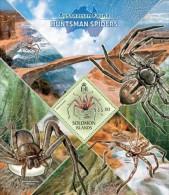 slm13404b Solomon Is. 2013 Australian Fauna Huntsman Spiders s/s