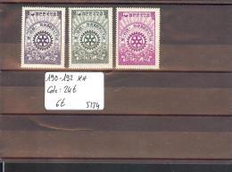 SUD KOREA  - No Michel 190-192 ** ( SANS CHARNIERE  )   - COTE: 24 € - Korea (...-1945)