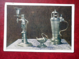 Candlestick - Box - Mug - Made From Tin - German Crafts - Museum Exhibits - 1956 - Russia USSR - Unused - Museos